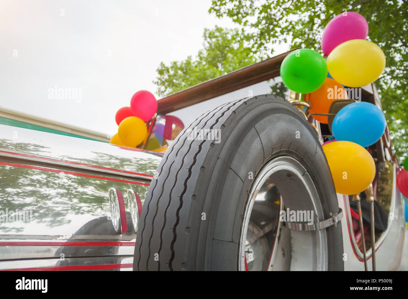 Wedding Car Balloon Stock Photos Wedding Car Balloon Stock
