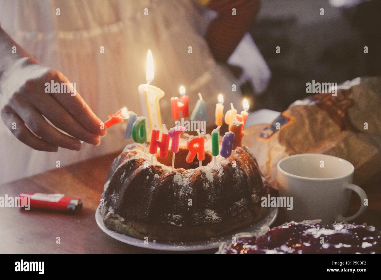 Birthday Cake Candles Number 40 Stock Photos Birthday Cake Candles