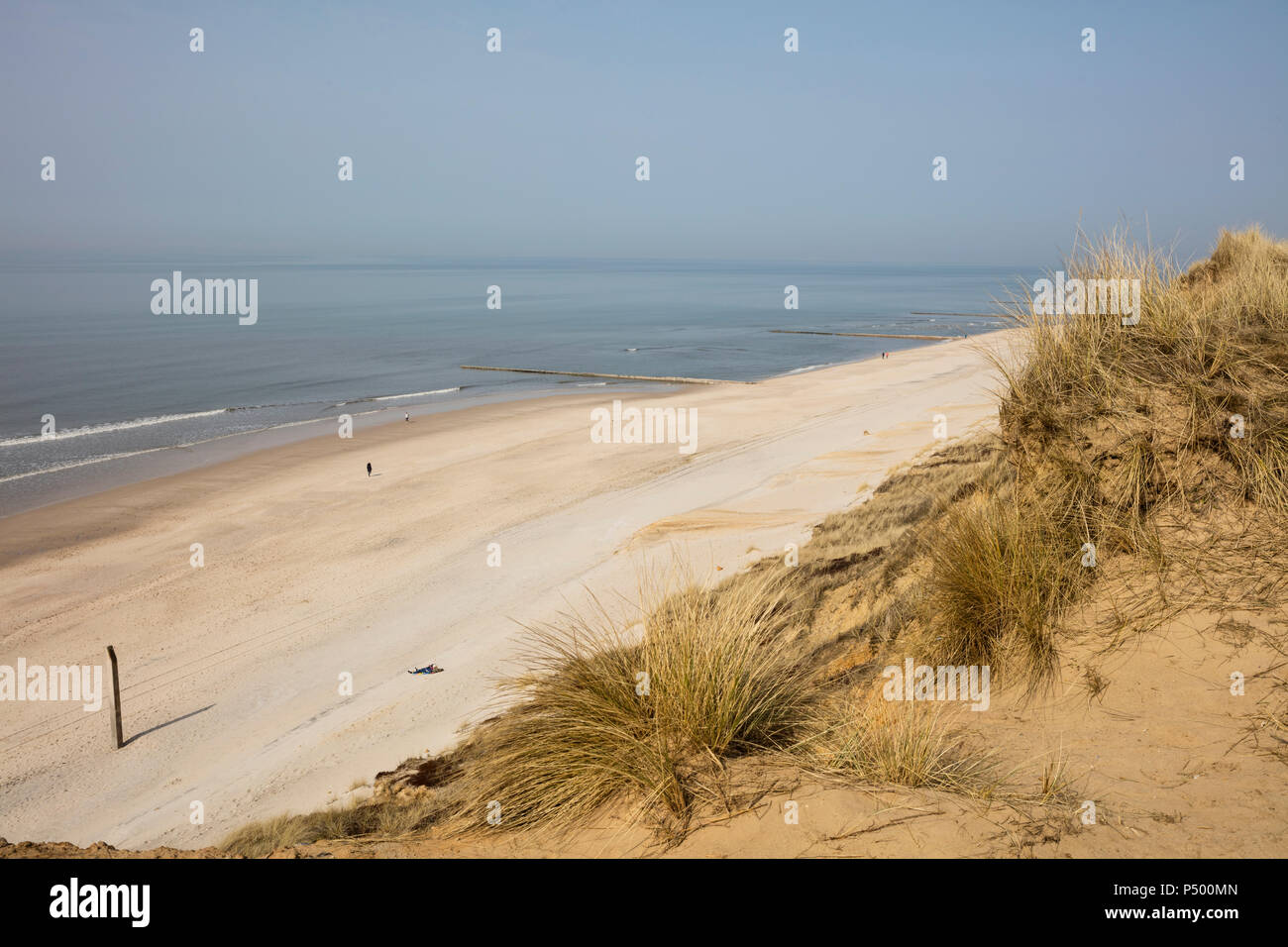 Germany, Schleswig-Holstein, North Frisian Islands, Sylt, view to beach at Rotes Kliff - Stock Image