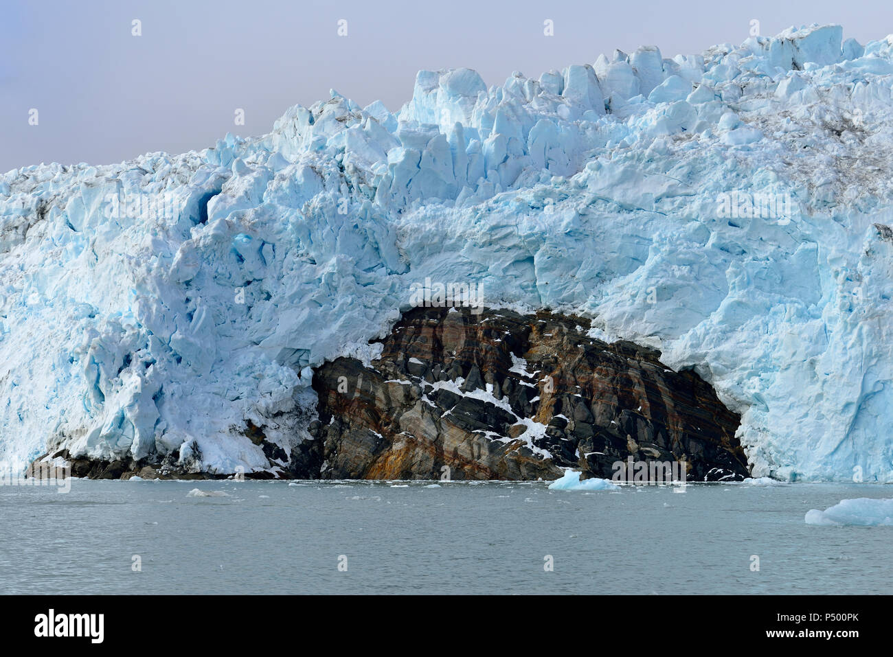 Greenland, East Greenland, Knud Rasmussen Glacier Stock Photo