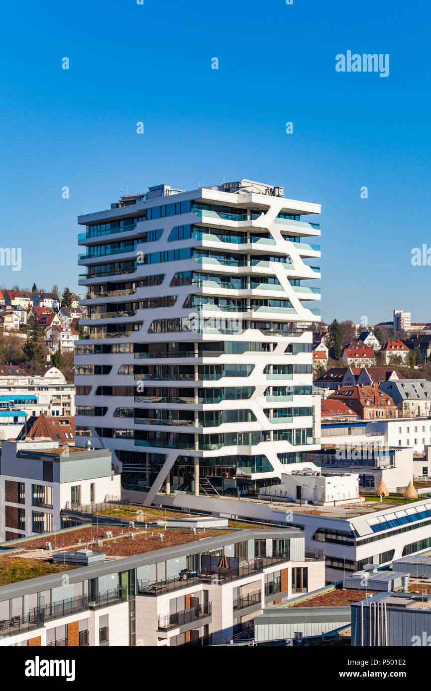 Germany Stuttgart Residential Tower Cloud No 7 Stock Photo