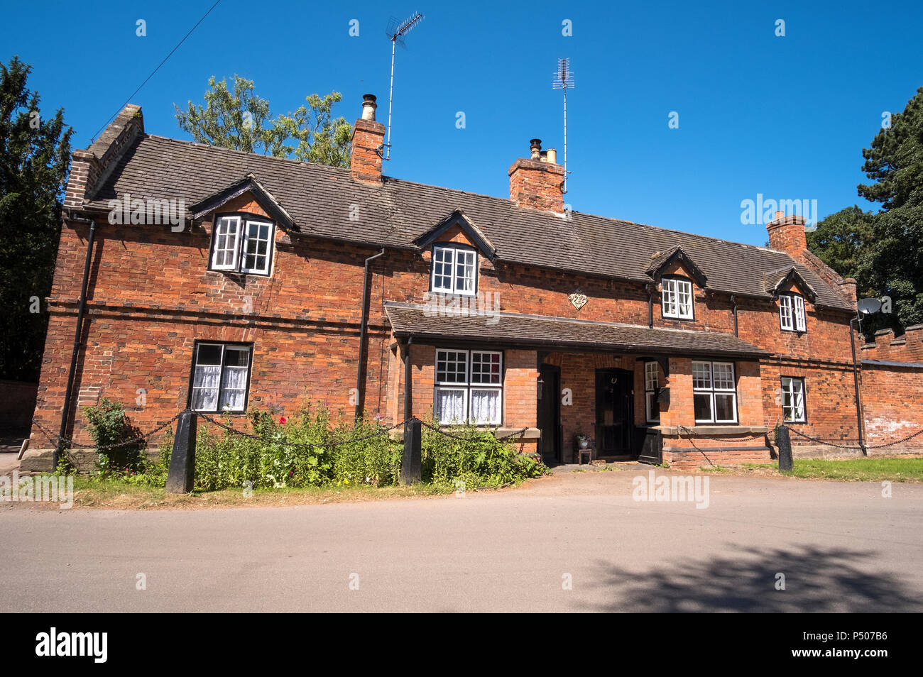 The village of Thrumpton, Nottinghamshire, UK - Stock Image