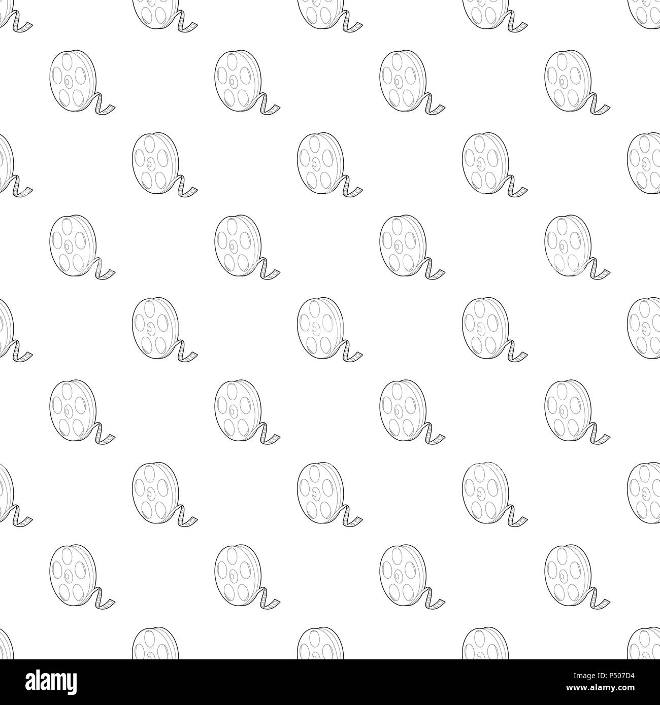Reel pattern vector seamless - Stock Image