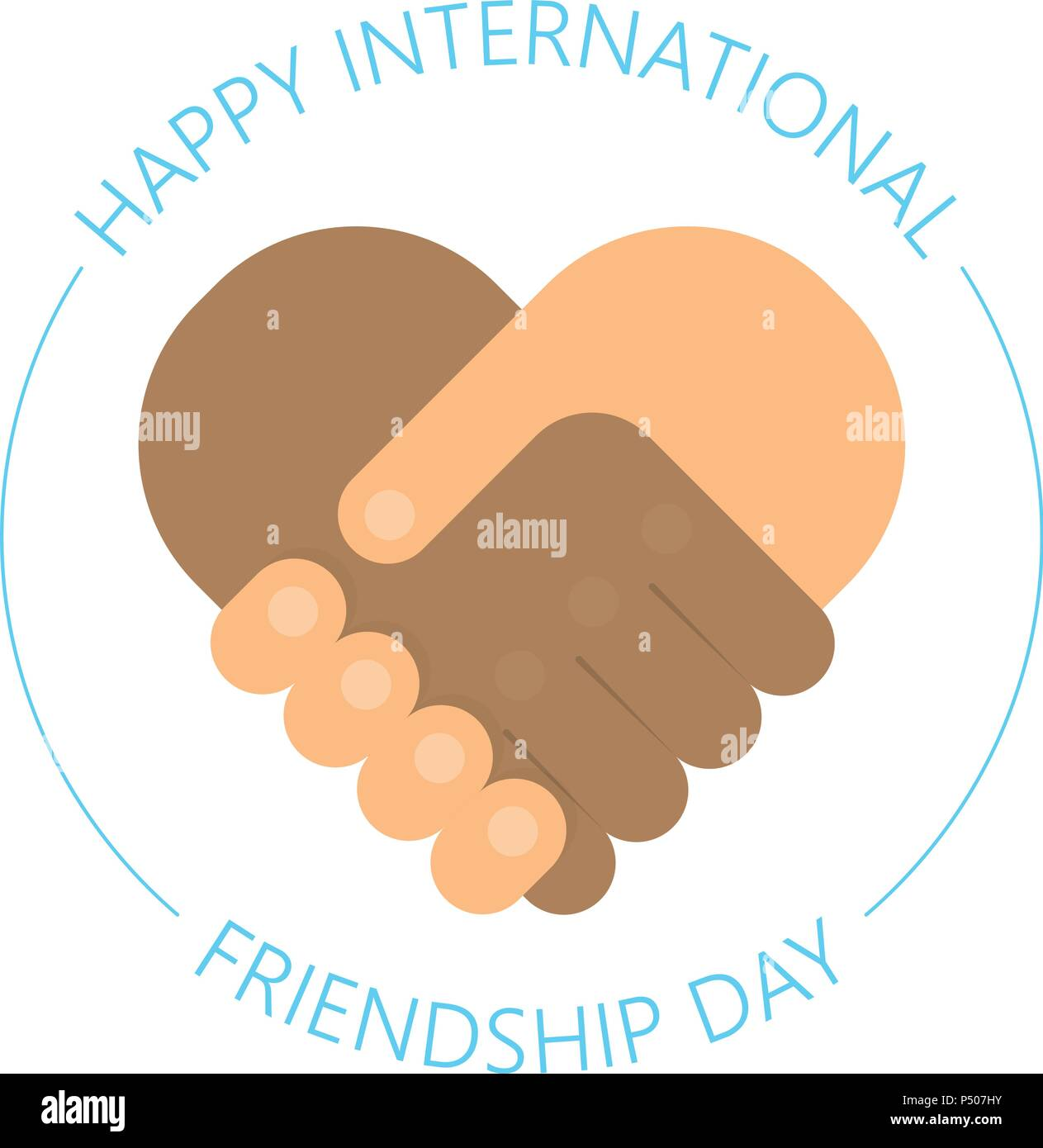 International handshake friendship logo happy friendship day handshake friendship logo happy friendship day vector fun design international holiday usable for greeting cards posters best friends forever m4hsunfo