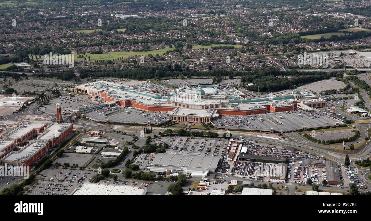 aerial view of The Trafford Centre, Manchester - Stock Image