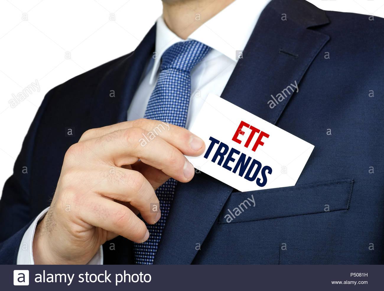 ETF Trends - exchange traded fund stock market - Stock Image