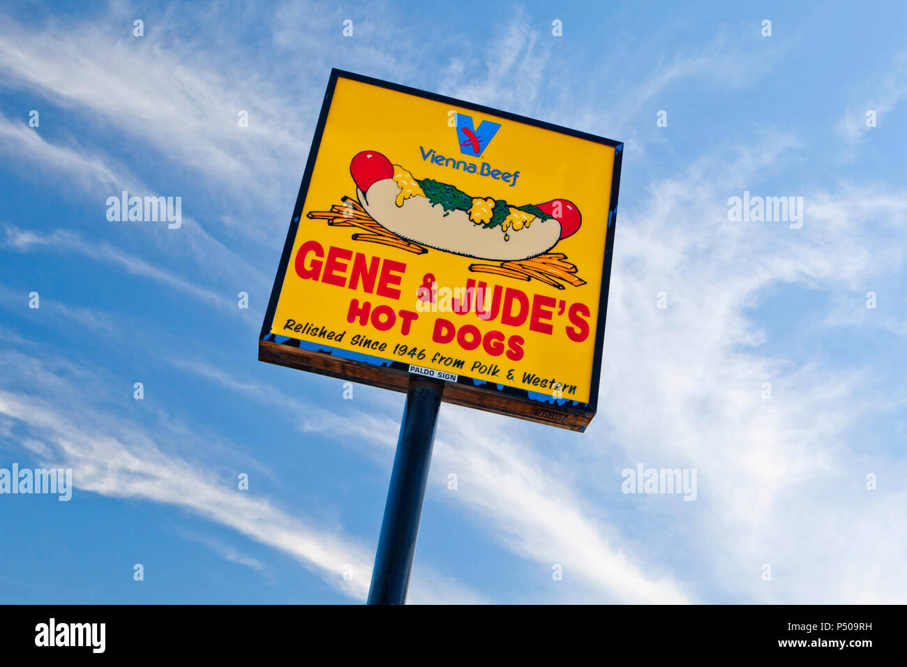 Gene & Jude's famous for Hot Dogs, Chicago since 1946 - Stock Image