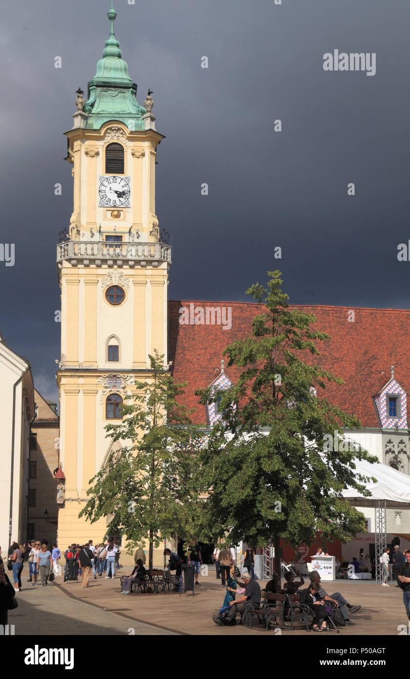 Slovakia, Bratislava, Main Square, Old Town Hall, - Stock Image