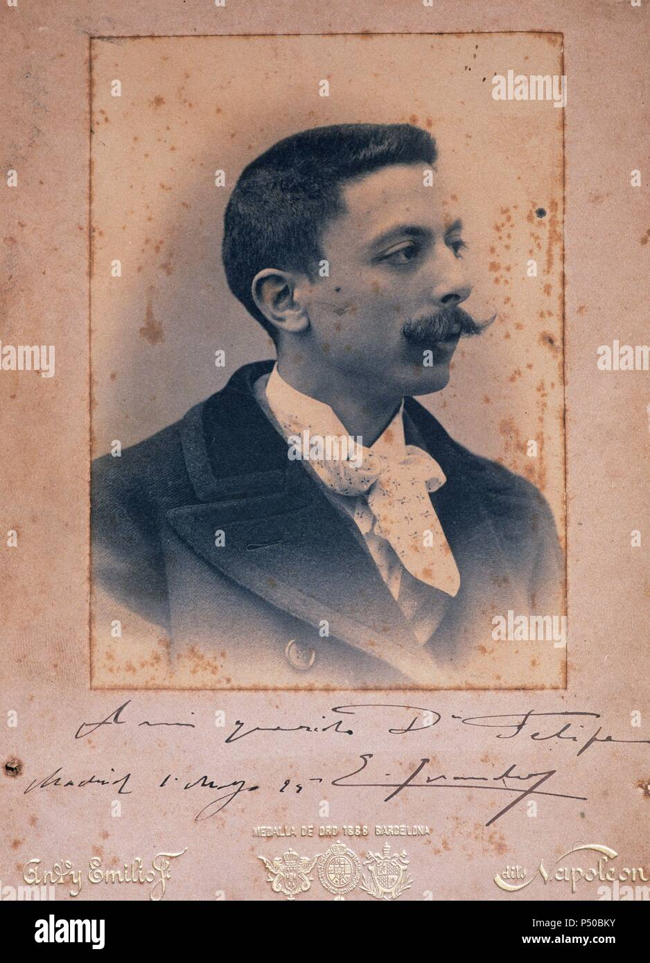 Spanish Romanticism Character Stock Photos & Spanish