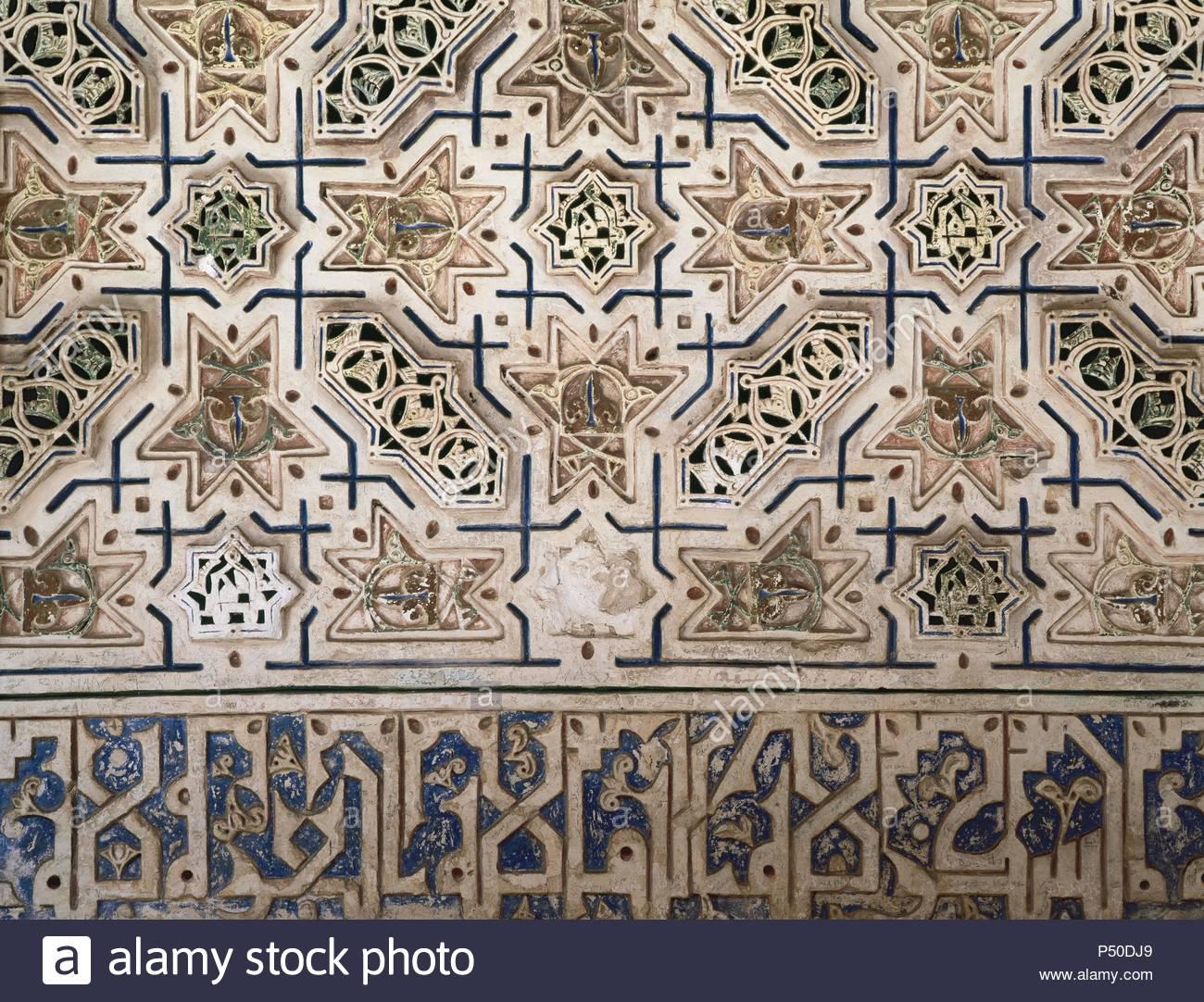 Spain. Toledo. Monastery of Saint John of the Kings. 15th - 16th centuries. Gothic-spanish-flemish style. Decoration. Detail. - Stock Image