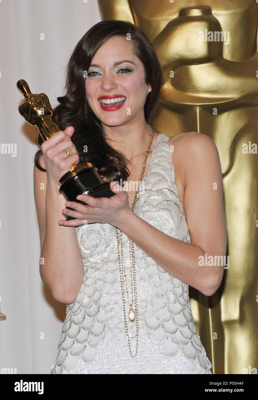 Marion Cotillard 80th Oscars Ceremony Press Room At The Kodak Theatre In Los Angeles Three Quarters