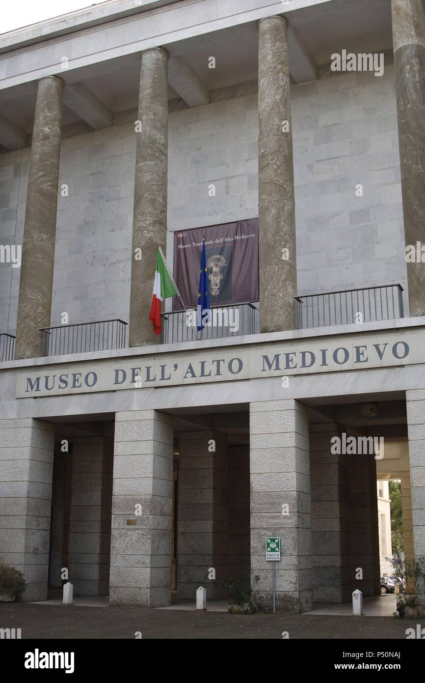 Italy. Rome. National Museum of the Early Middle Ages (Museo dell' Alto Medioevo). Exterior. - Stock Image