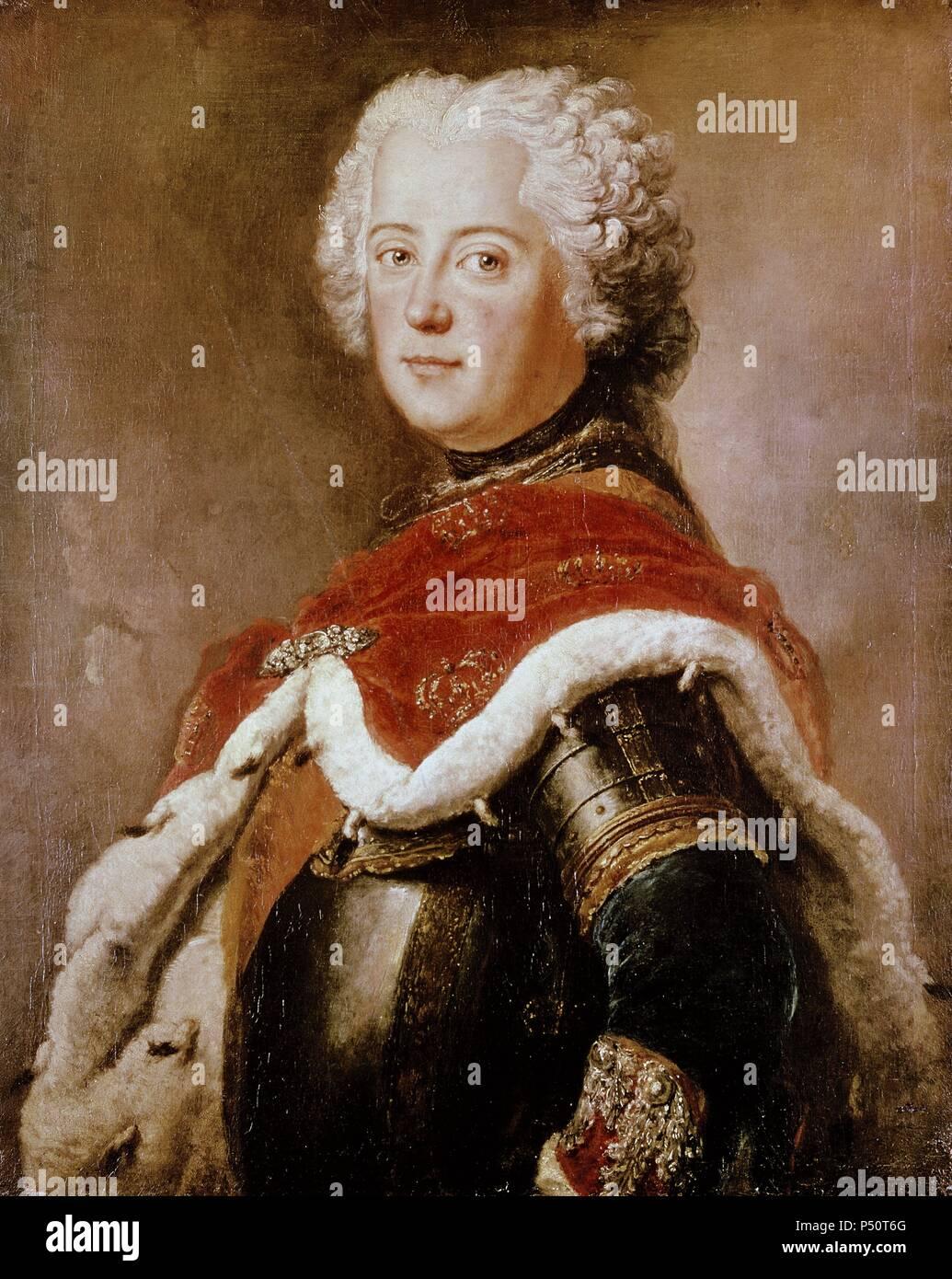 FEDERICO II 'el Grande' o 'el Unico' (1712-1786). Rey de Prusia (1740-1786) . - Stock Image