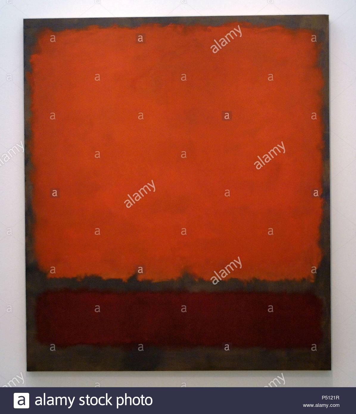 ARTE SIGLO XX. LETONIA. MARK ROTHKO (1903-1970) Pintor letón. 'NARANJA, ROJO Y ROJO' (1962). Oleo sobre lienzo. Museo de Arte de Dallas (Dallas Museum of Art). Estado de Texas. Estados Unidos. - Stock Image
