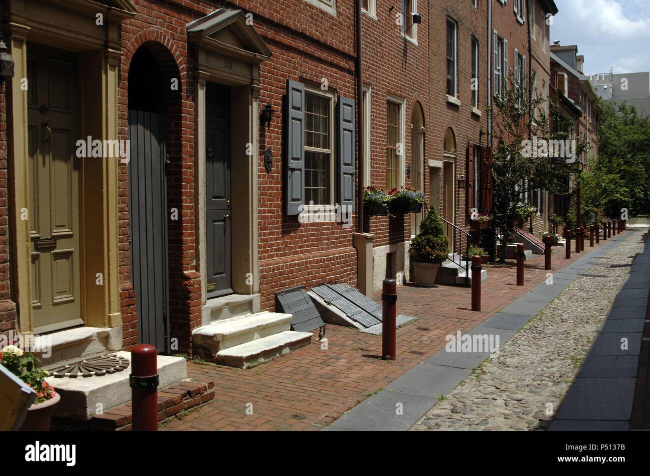 Philadelphia Street 18th Century Stock Photos ...