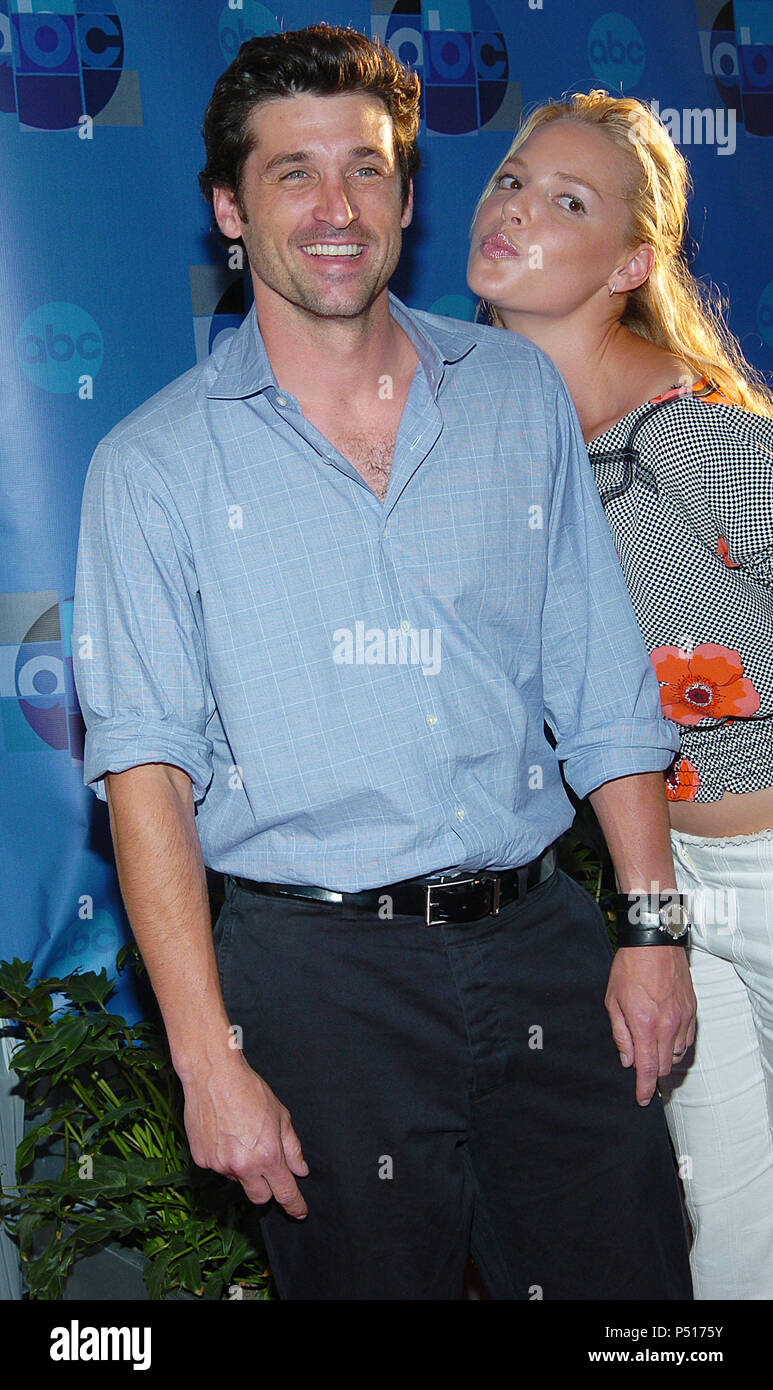 Patrick Dempsey And Katherine Heigl Greys Anatomy Arriving At The