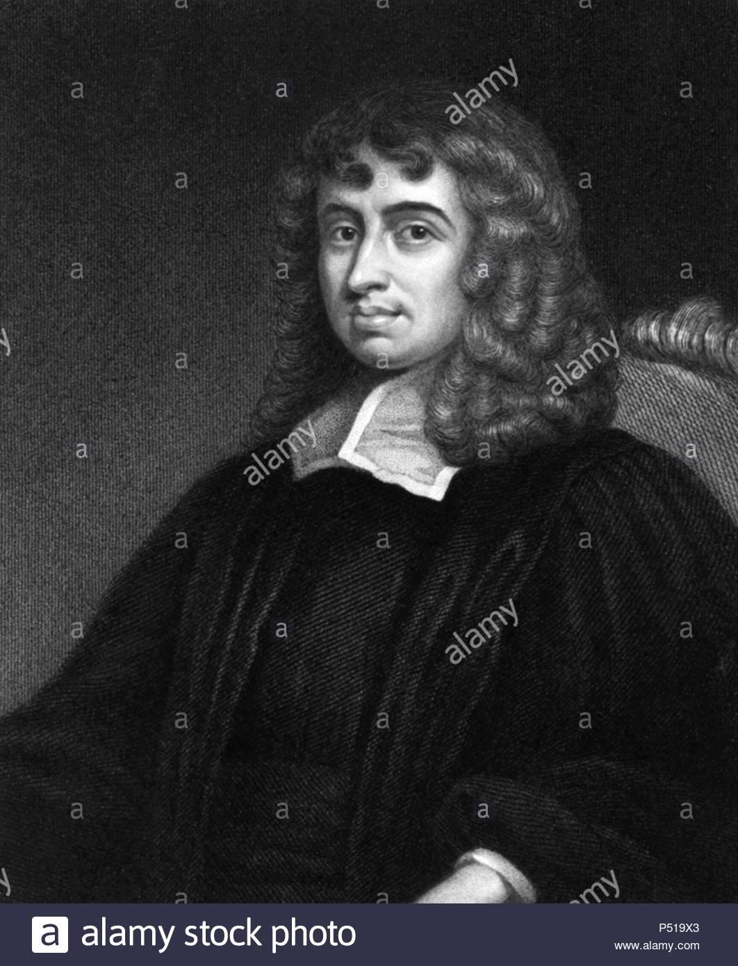 El teólogo y matemático inglés Isaac Barrow. - Stock Image