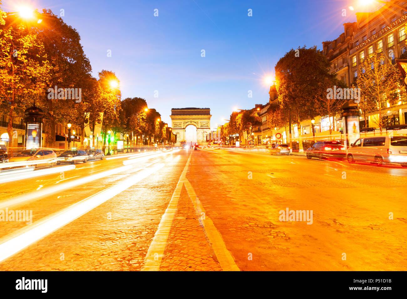 Arc de triomphe, Paris, France - Stock Image