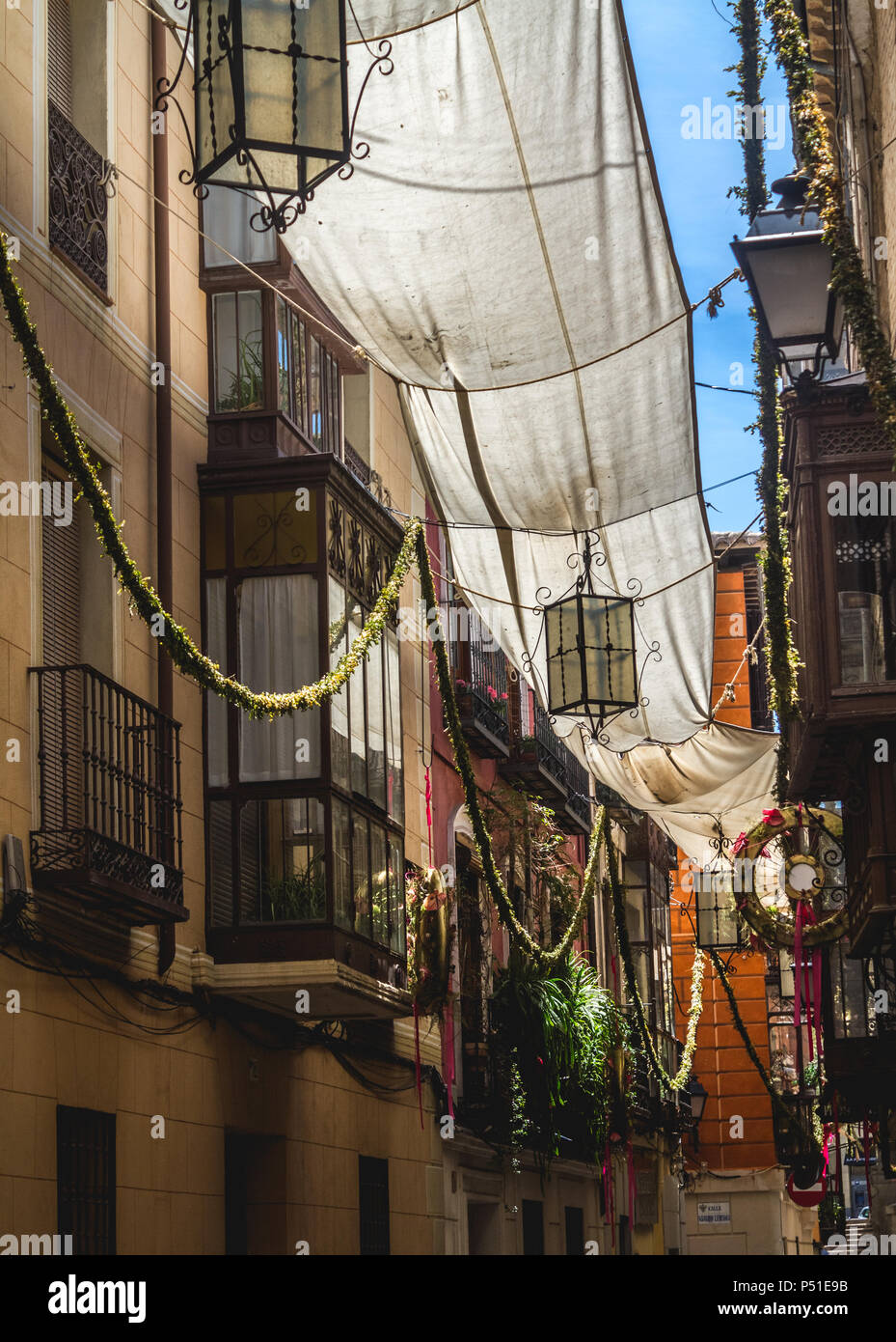 Blacony And Decorations In Spanish Historical Town Toledo