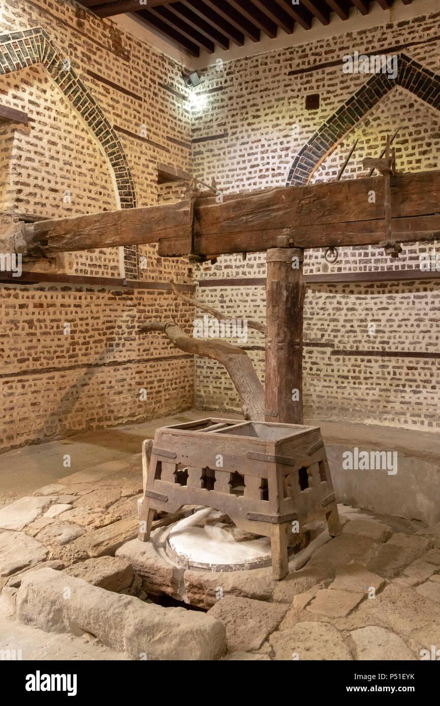 interior of Abu Shahin grain mill, Rosetta, Egypt - Stock Image