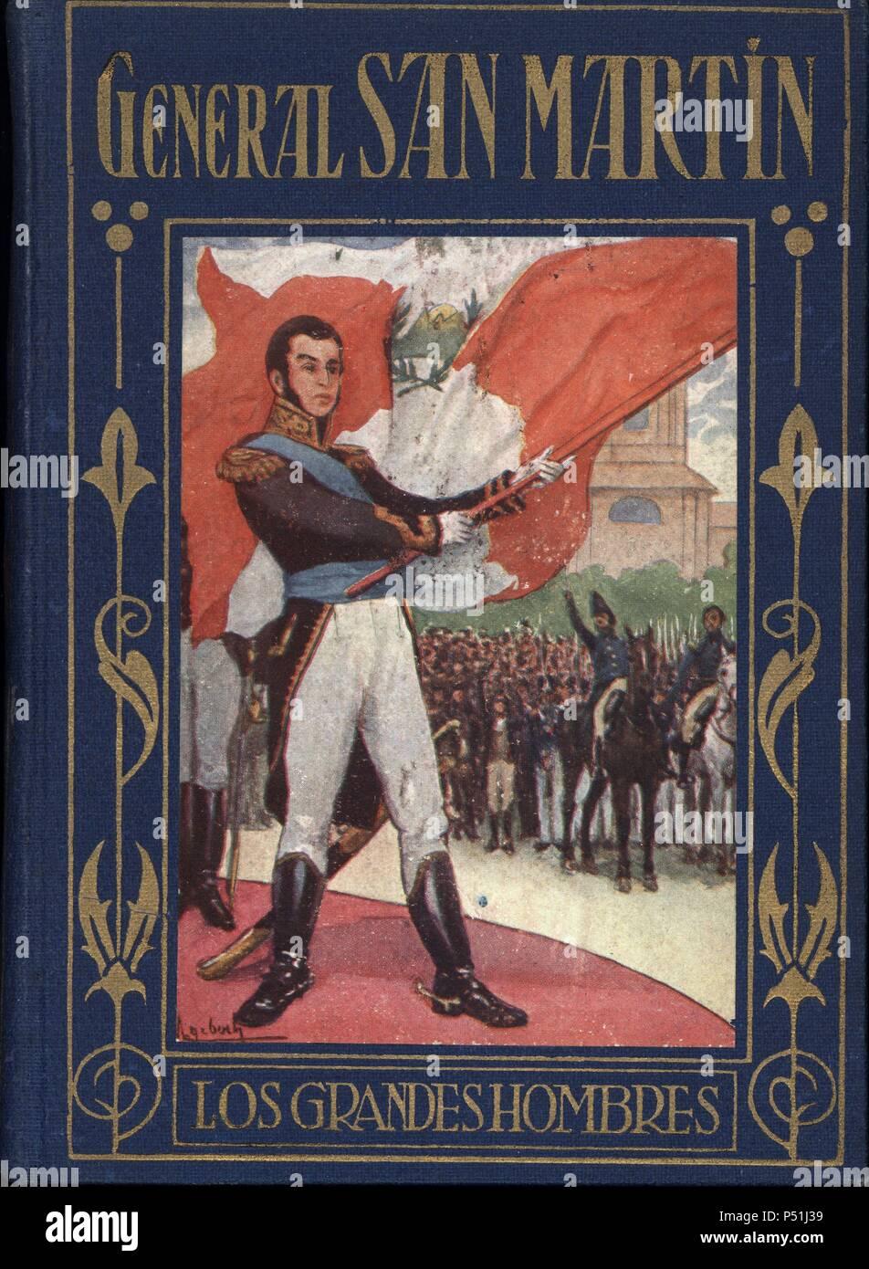 Portada del libro 'General San Martín', por B. González Arrili, de la serie Los Grandes Hombres, editorial Araluce. Barcelona, 1932. - Stock Image