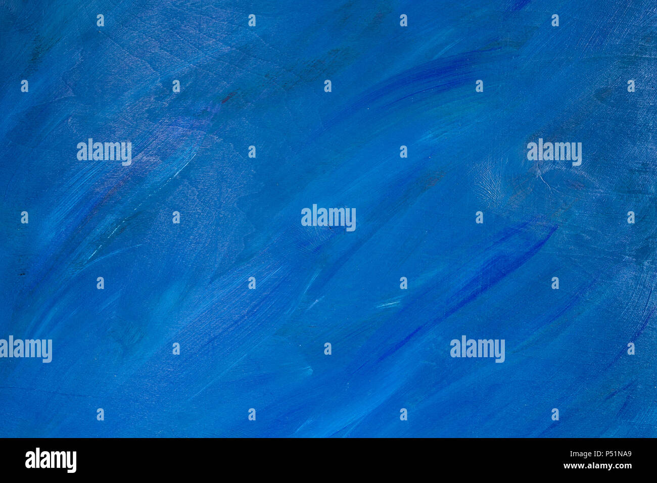 Natural wooden background blue painted. - Stock Image