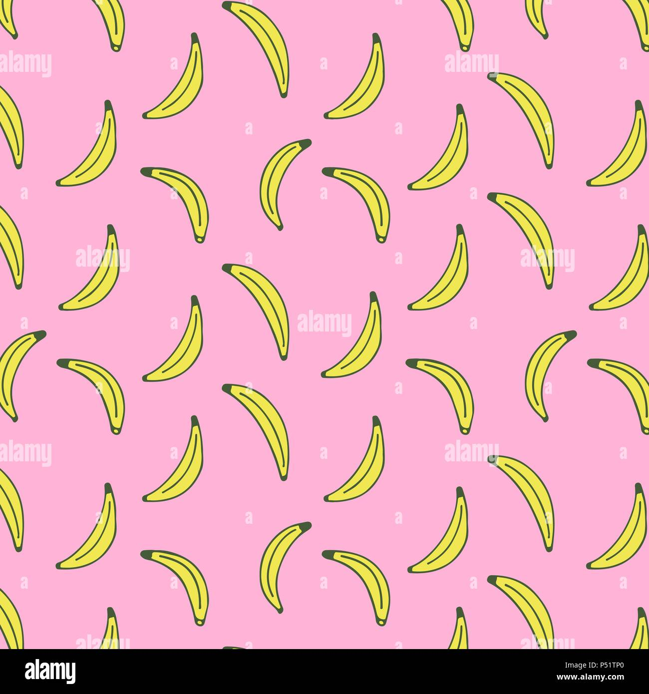 seamless pattern of bananas vector illustration food wallpapersvector illustration food wallpapers from fruits