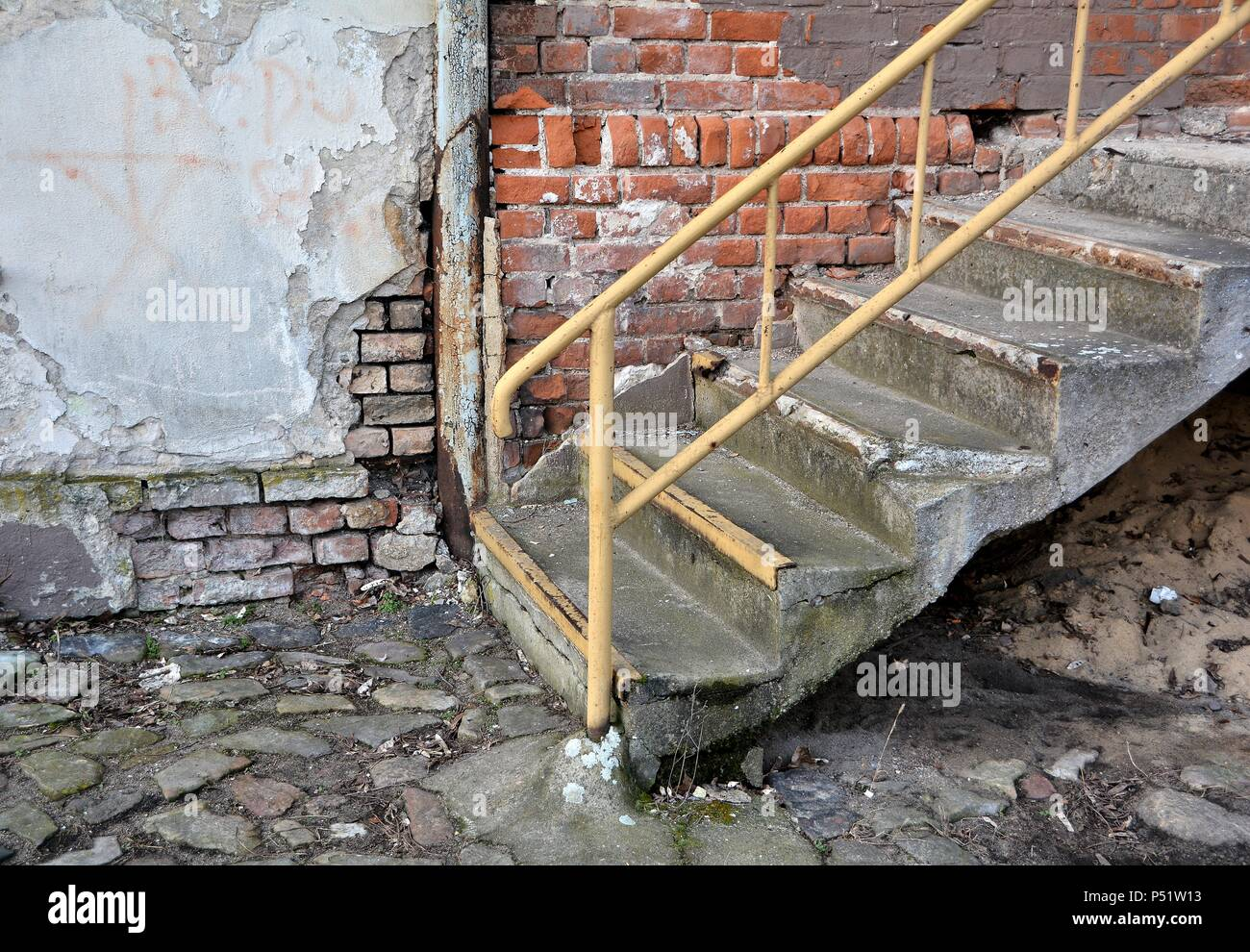 old ramshackle stairs - Stock Image