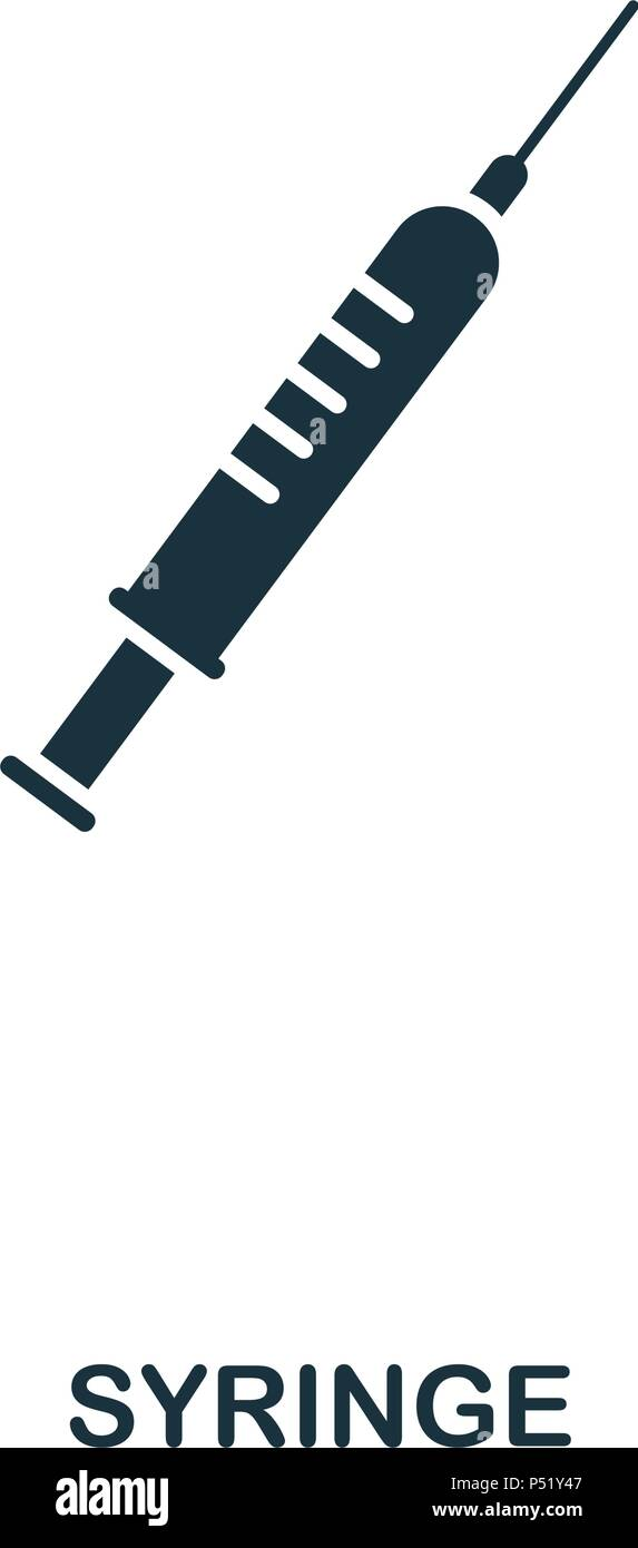 Syringe icon. Line style icon design. UI. Illustration of syringe icon. Pictogram isolated on white. Ready to use in web design, apps, software, print. - Stock Vector