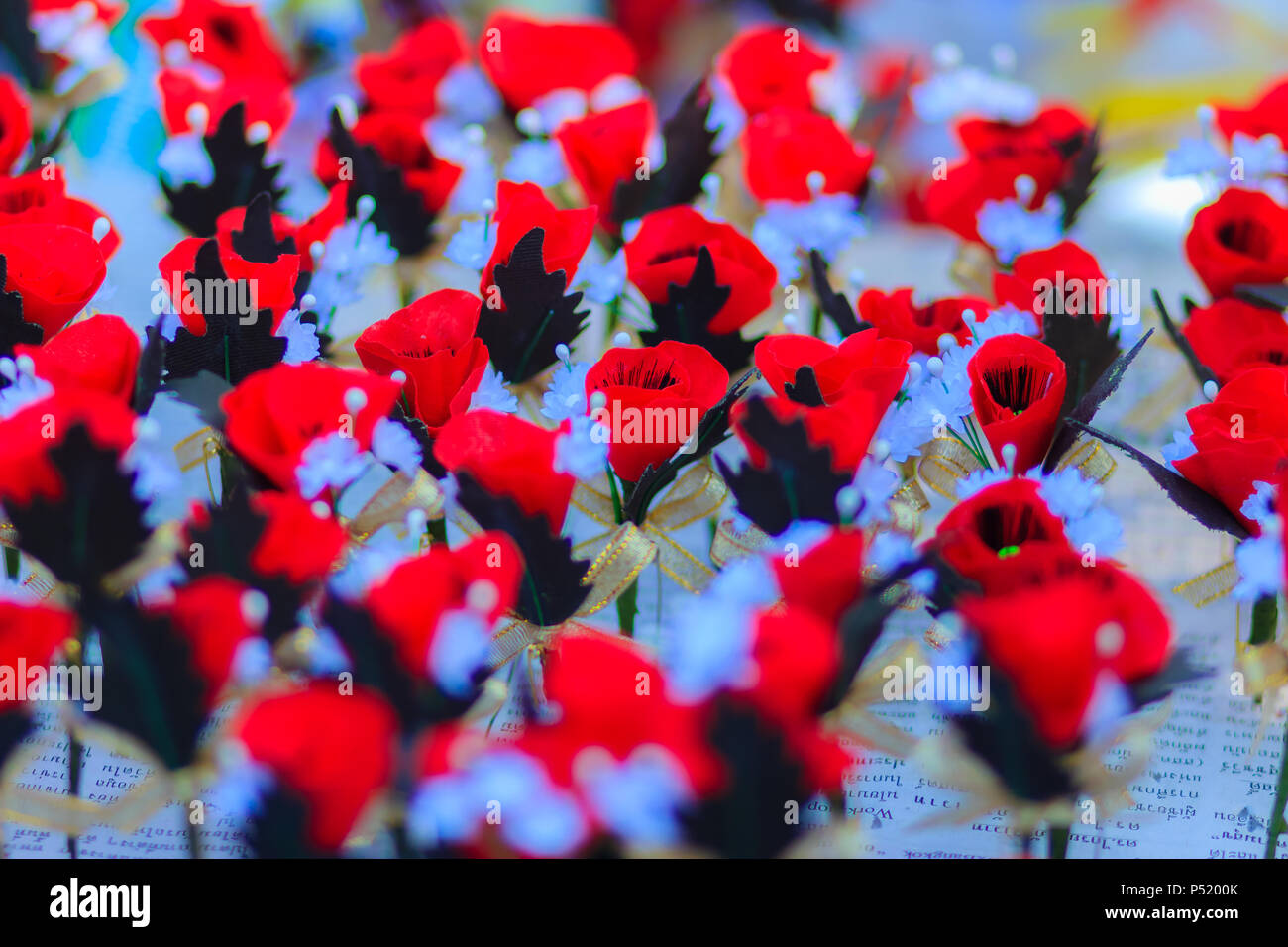 Beautiful Red Artificial Flower Poppy Flower Artificial Is Symbol
