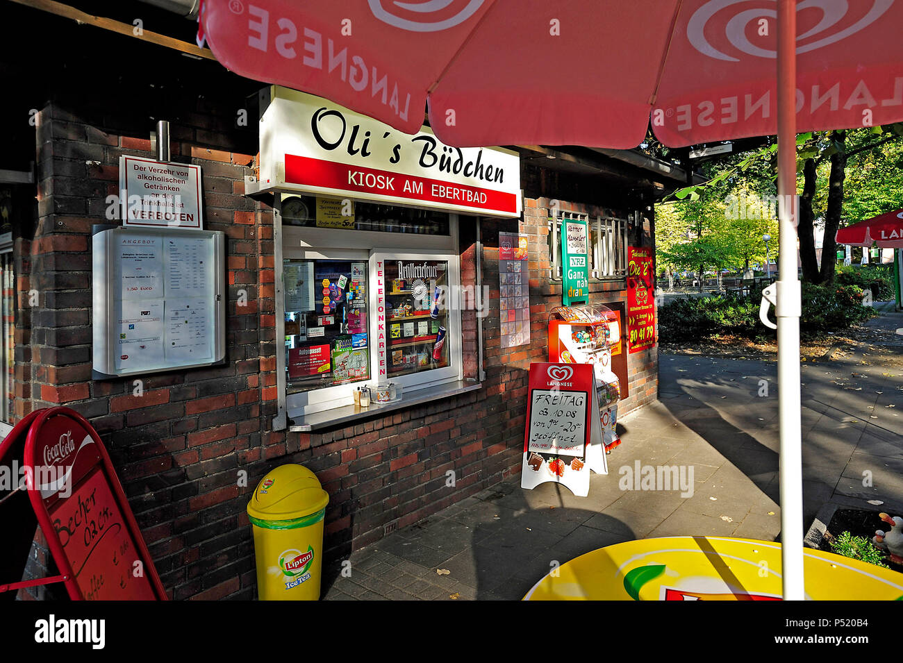 Germany, North Rhine-Westphalia kiosks in the Ruhr area Stock Photo