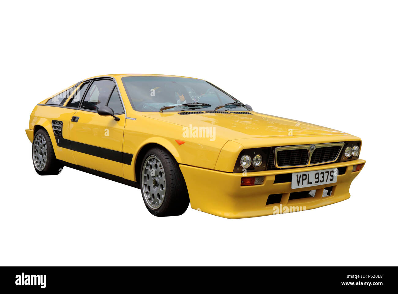 1978 Lancia β Monte Carlo isolated on a white background - Stock Image