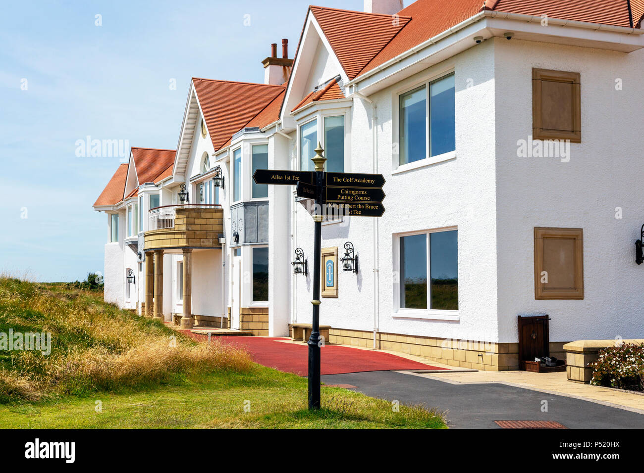 Golf clubhouse at the Trump Turnberry hotel and Golf complex, Turnberry, Ayrshire, Scotland - Stock Image