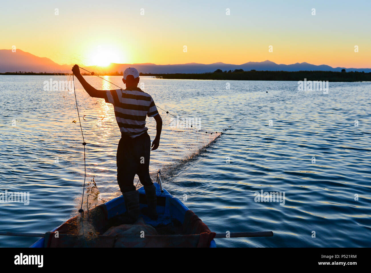 fishing daily working concept - Stock Image