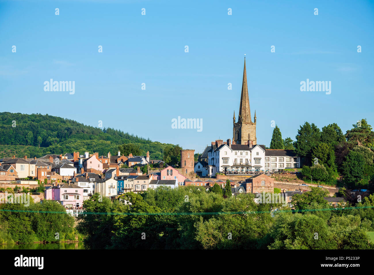 Ross on Wye, Herefordshire, UK. Photographed on a summer evening. - Stock Image
