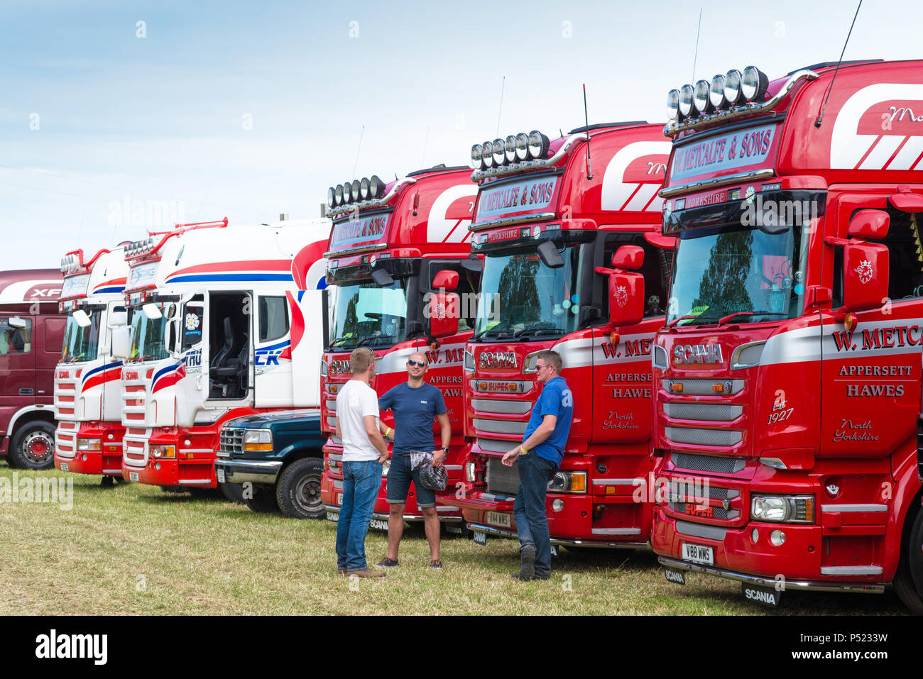 HGV lorries at Thirsk Truck Show - Stock Image