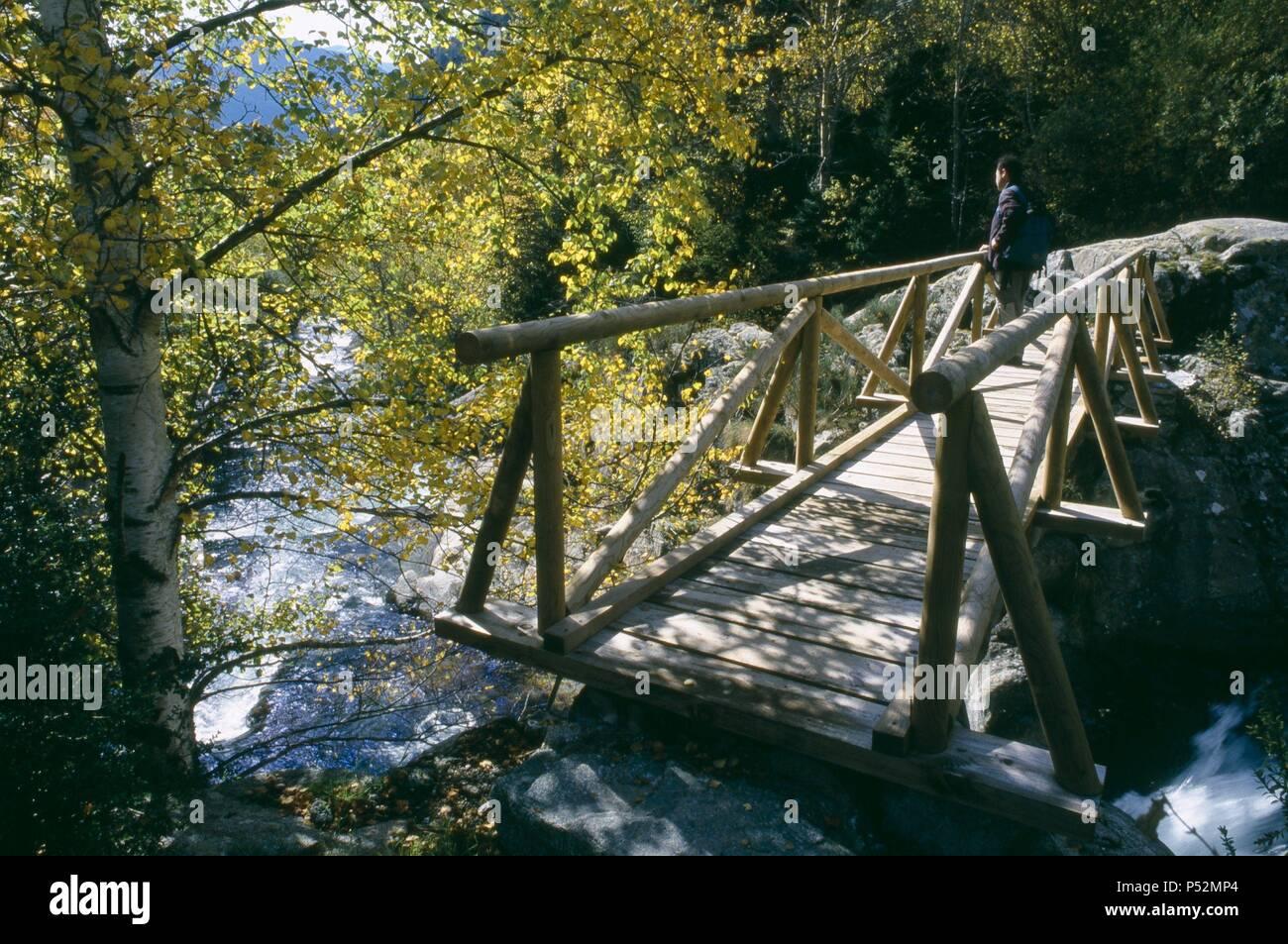 Noguera de Tor River. Boi Valley. Alta Ribagorza. Lerida. Spain. - Stock Image