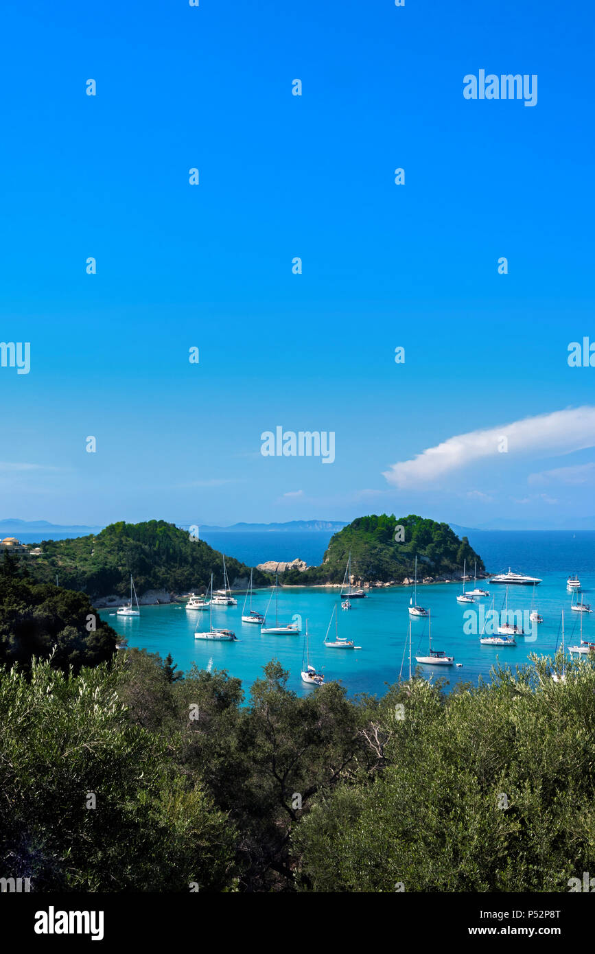 Lakka Bay, Paxos. - Stock Image