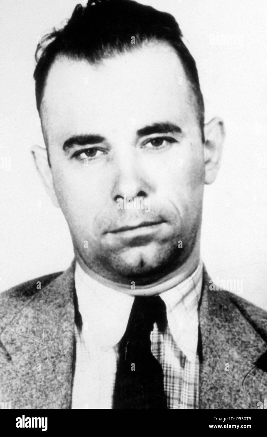 American bank robber John Dillinger. - Stock Image
