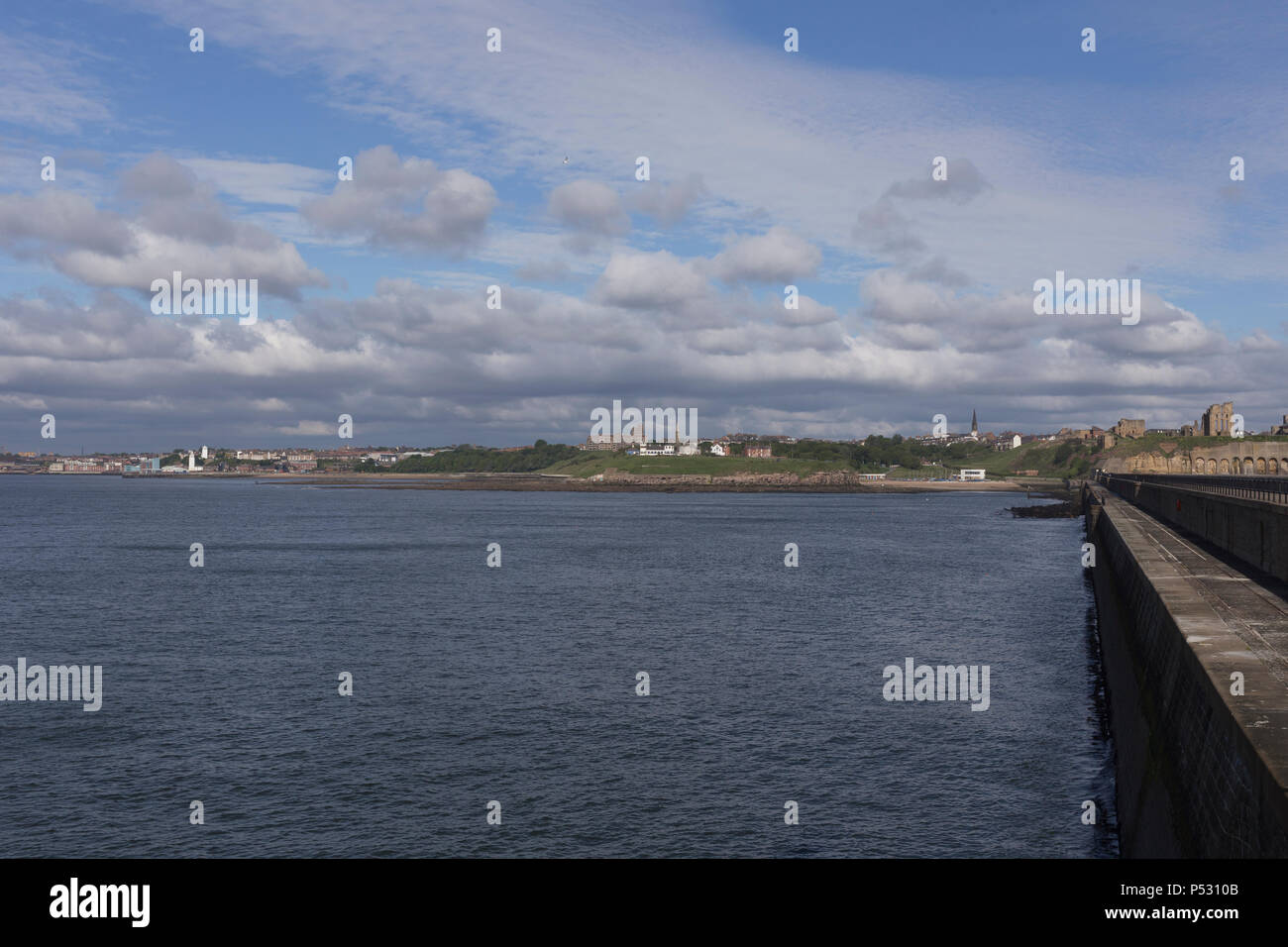 North Shields and Tynemouth riverfront Stock Photo