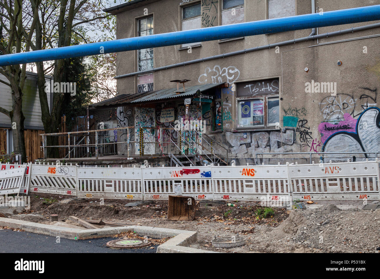 Berlin, Germany, Club about blank on the Markgrafendamm in Berlin ...
