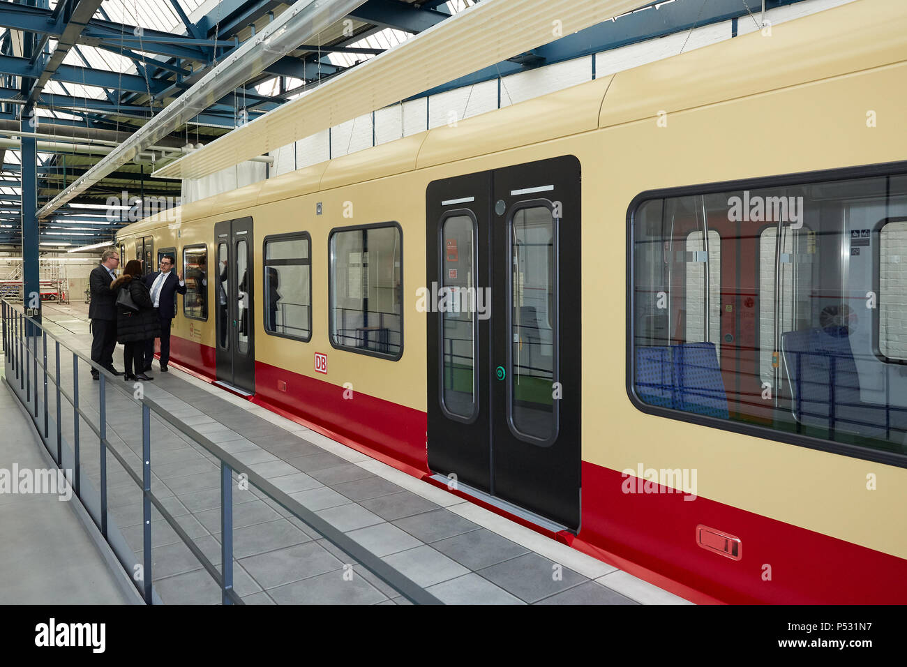Berlin, Germany - Model on a scale of 1: 1 of the new S-Bahn class 483 Stock Photo