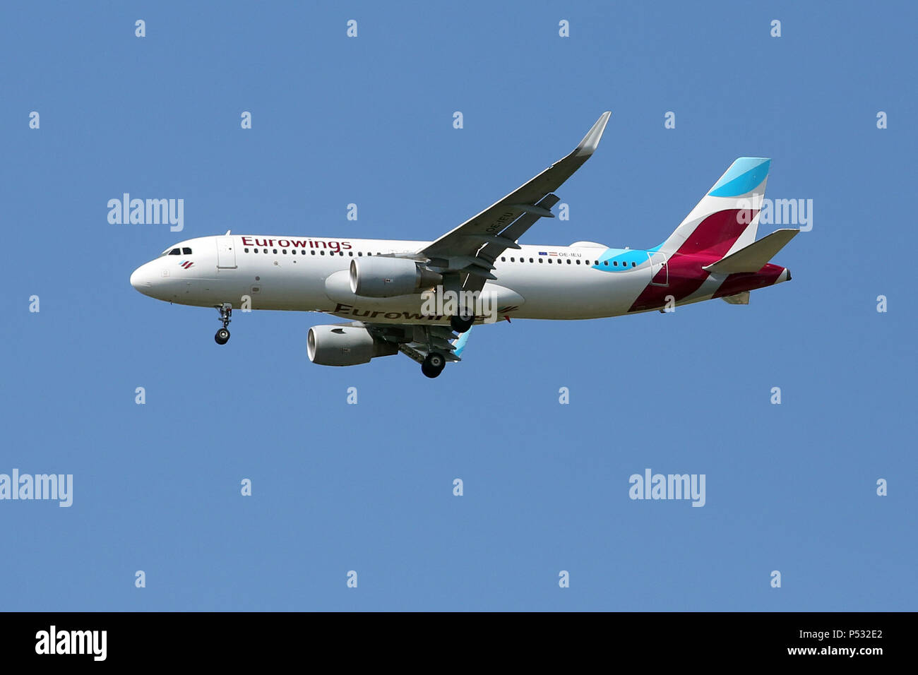 Hannover, Lower Saxony, Germany, Airbus A320-200 of the airline Eurowings - Stock Image