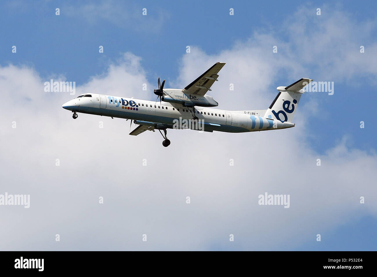Hannover, Lower Saxony, Germany, Bombardier DHC-8-Q-402 of the airline flybe - Stock Image