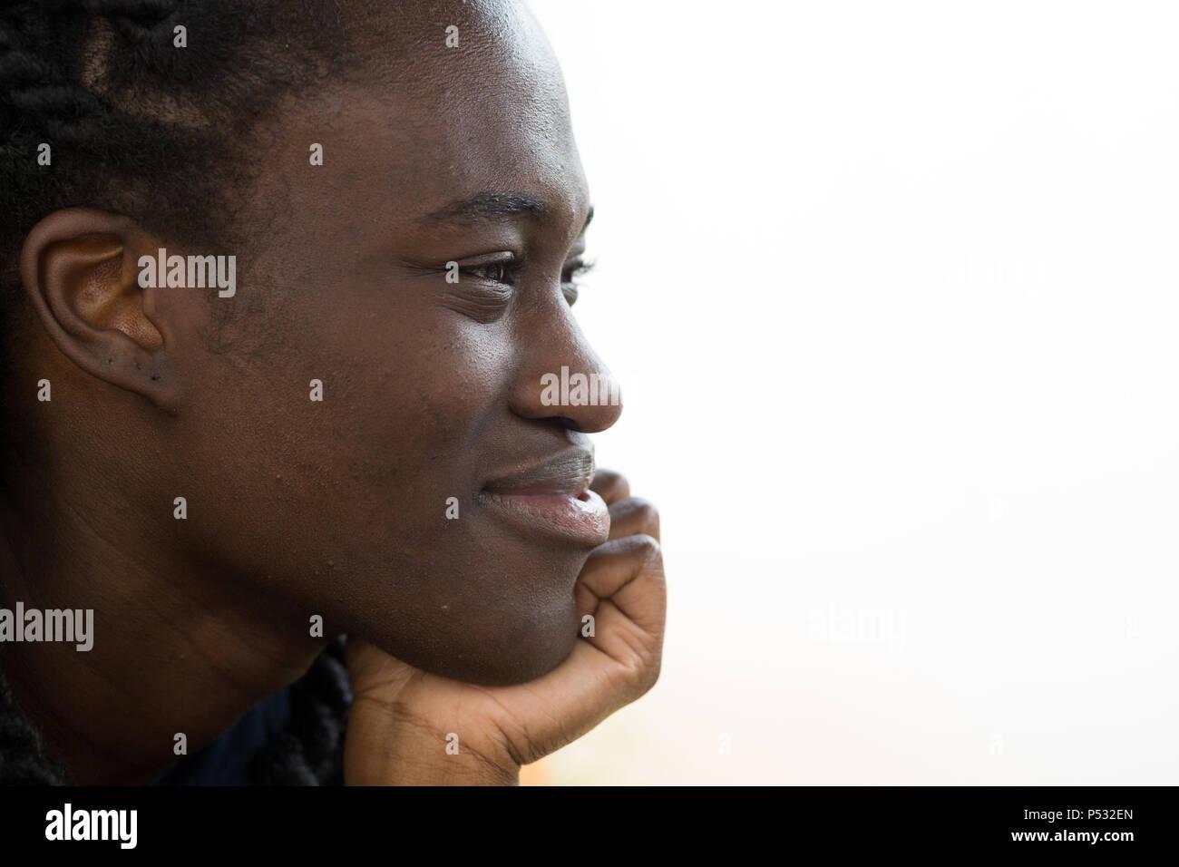 Kakuma, Kenya - Portrait of German pop singer of Ghanaian descent Ivy Qainoo. - Stock Image