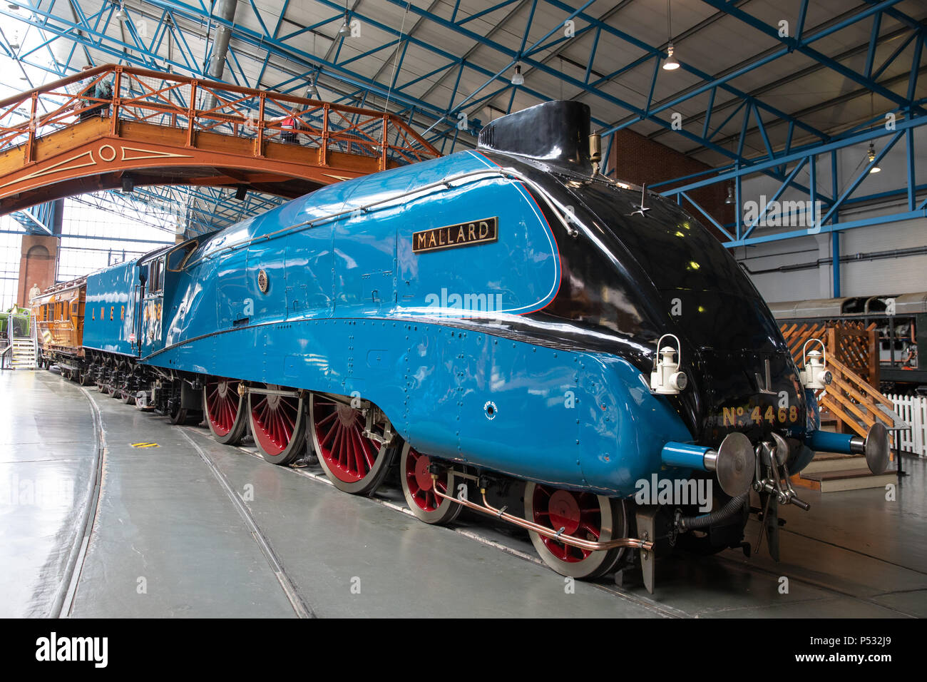 'Mallard', in The National Railway Museum, York, England - Stock Image