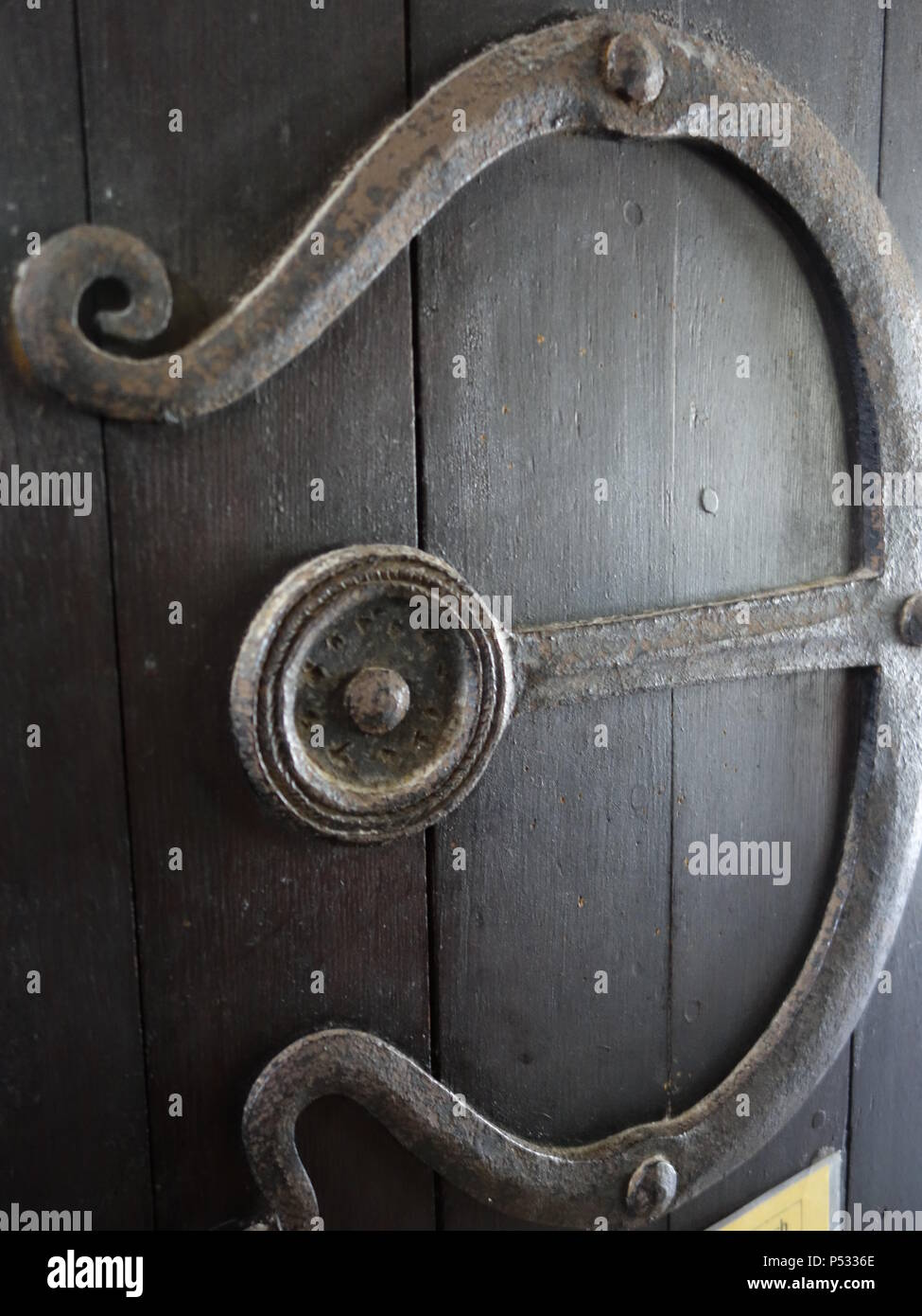 an antique door - Stock Image