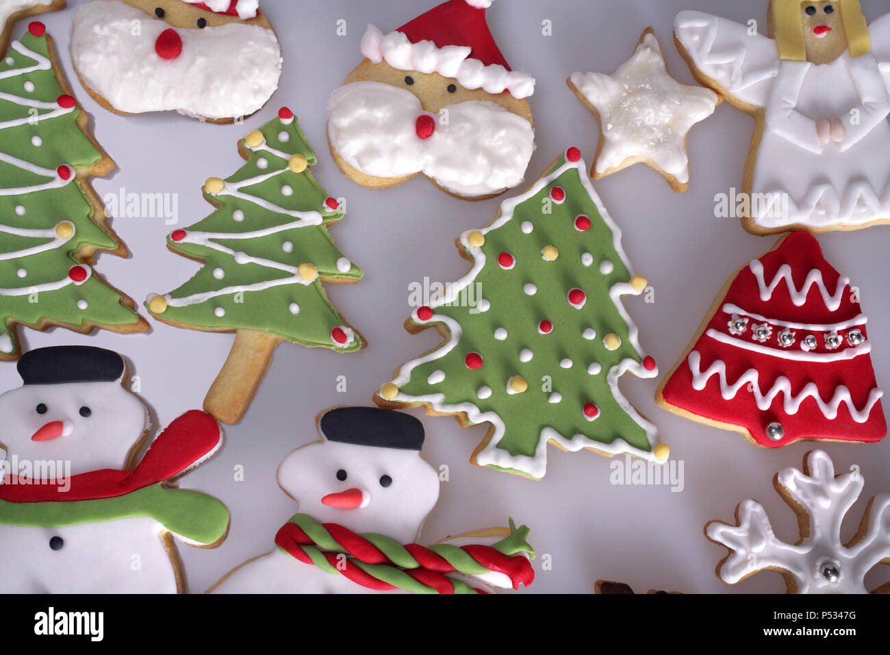 Variety Christmas Angel Cookies Icing Stock Photos Variety