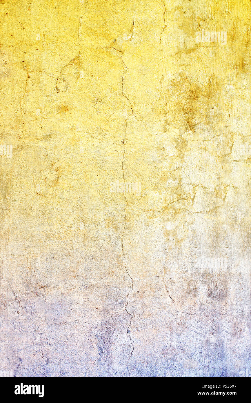 Grunge background with old stucco wall texture of yellow and blue ...