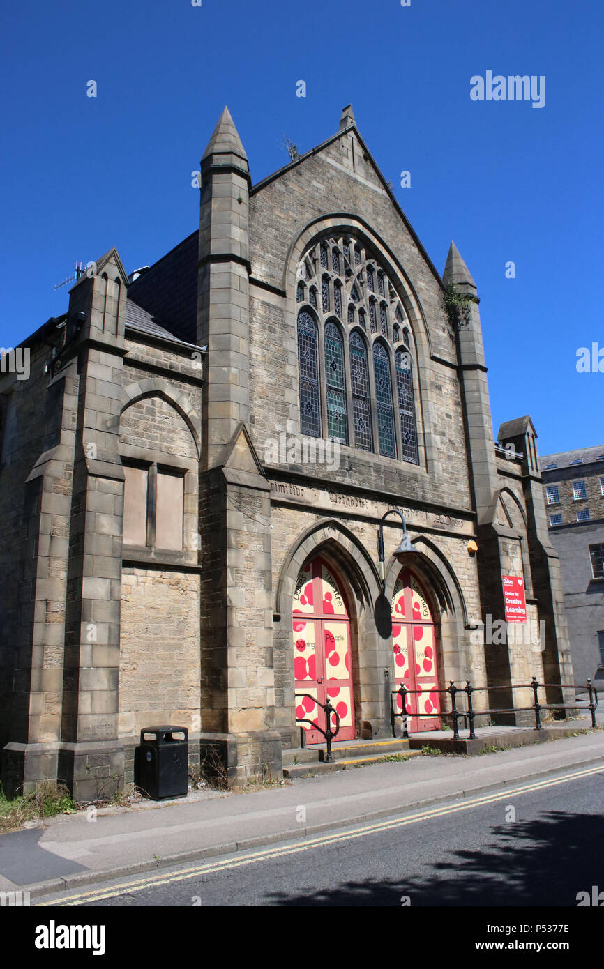 Old Primitive Methodist chapel on Moor Lane, Lancaster that is now used as a Centre for Creative Learning by the Dukes Theatre. - Stock Image